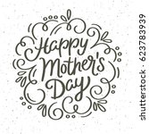 vintage happy mother's day... | Shutterstock .eps vector #623783939