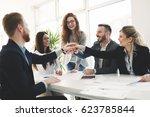successful enterprenours and... | Shutterstock . vector #623785844