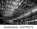 steel plant shop with equipment ... | Shutterstock . vector #623790179