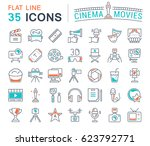 set vector line icons  sign and ... | Shutterstock .eps vector #623792771