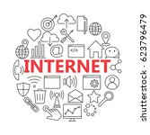 universal internet icon to use...   Shutterstock . vector #623796479