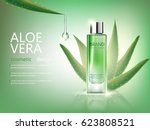 vector bottle aloe vera... | Shutterstock .eps vector #623808521