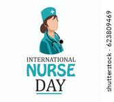 illustration of nurse day on...   Shutterstock .eps vector #623809469