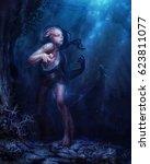 digital illustration of fantasy ... | Shutterstock . vector #623811077