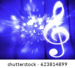 musical abstract colorful...   Shutterstock . vector #623814899