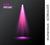thin magenta vector spotlight.... | Shutterstock .eps vector #623816105