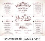 placemat design template vector ... | Shutterstock .eps vector #623817344