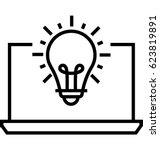 solution vector icon | Shutterstock .eps vector #623819891