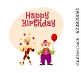 happy birthday vector greeting... | Shutterstock .eps vector #623820065