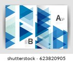 vector triangle business annual ... | Shutterstock .eps vector #623820905