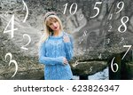 numerology  magic of numbers | Shutterstock . vector #623826347