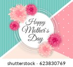 happy mother s day cute... | Shutterstock .eps vector #623830769