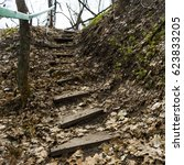 Wooden Steps In The Ground And...