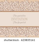 vector floral swirls decorated... | Shutterstock .eps vector #623835161