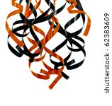 Orange And Black Ribbons As...