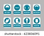 mandatory signs. flat design   Shutterstock . vector #623836091