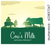 cow's milk natural product.... | Shutterstock .eps vector #623837267