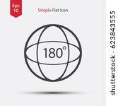circle 180 degree text inside.... | Shutterstock .eps vector #623843555