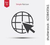 trendy web icon. flat style of...