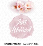 beautiful vector concept 'just... | Shutterstock .eps vector #623844581