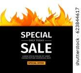 template design horizontal... | Shutterstock .eps vector #623844617