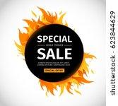 template design circle banner... | Shutterstock .eps vector #623844629