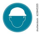 safety helmet sign | Shutterstock . vector #623845205