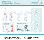 foot pain  leg pain and... | Shutterstock .eps vector #623857994