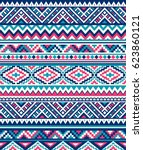 seamless ethnic pattern... | Shutterstock .eps vector #623860121