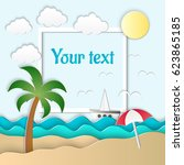 vector illustration of the sea  ... | Shutterstock .eps vector #623865185