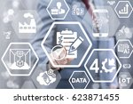 industry 4.0 compliance concept.... | Shutterstock . vector #623871455