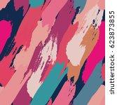 seamless oil painting vector... | Shutterstock .eps vector #623873855