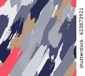 seamless oil painting vector...   Shutterstock .eps vector #623873921