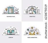 vector linear design. concepts...   Shutterstock .eps vector #623875019