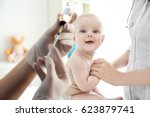 health care concept. baby's... | Shutterstock . vector #623879741