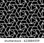 abstract geometric pattern with ... | Shutterstock .eps vector #623884559