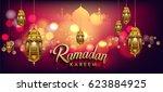 ramadan greetings background ...   Shutterstock .eps vector #623884925