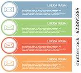 business cards design. vector... | Shutterstock .eps vector #623895389
