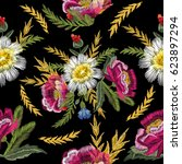 seamless pattern with... | Shutterstock .eps vector #623897294
