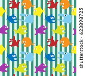 vector seamless pattern with... | Shutterstock .eps vector #623898725