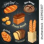 advertising bakery on the... | Shutterstock .eps vector #623902307