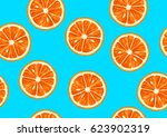 seamless pattern with tropical... | Shutterstock .eps vector #623902319