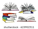 books and pics albums | Shutterstock .eps vector #623902511