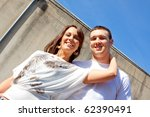 a young couple poses for some... | Shutterstock . vector #62390491