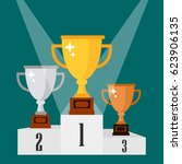 gold  silver  bronze cup. cup... | Shutterstock .eps vector #623906135