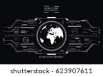 world map hud infographic....
