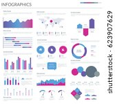 infographic elements. vector... | Shutterstock .eps vector #623907629