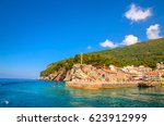 beautiful mediterranean... | Shutterstock . vector #623912999