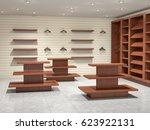 big  mpty store  3d illustration | Shutterstock . vector #623922131
