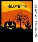 halloween background with... | Shutterstock .eps vector #62392552